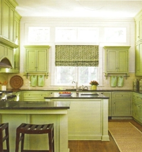 painted cabinets, green cabinets, painted green cabinets