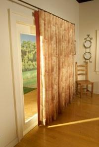 decorative hardware, drapes, drapery, curtain