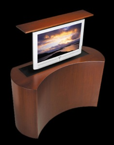pop up tv stand, tv for foot of bed, master bedroom tv