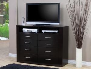bedroom television, television dresser, tv dresser, dresser for tv
