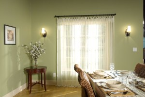 decorative hardware, drapes, drapery, curtain
