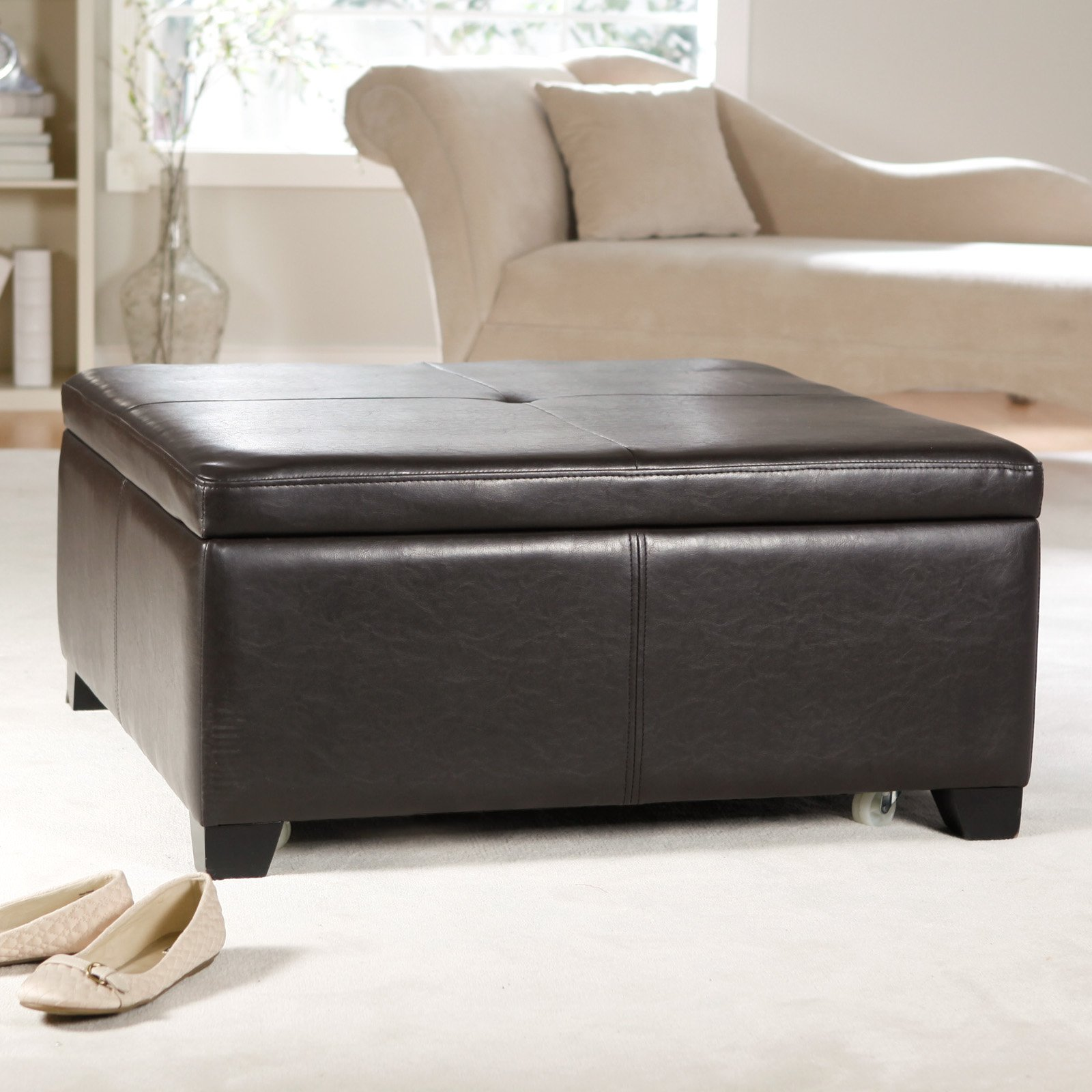 Storage Ottoman Square Ottoman Storage Ideas Storage Solutions
