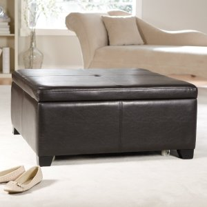 storage ottoman, square ottoman, storage ideas, storage solutions