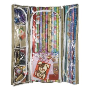 undeer bed storage, wrapping paper storage, gift wrap storage