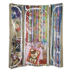 undeer bed storage, wrapping paper storage, gift wrap storage
