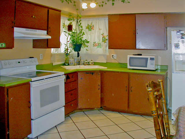 Green Countertops Kitchen : Ugly Green Kitchen Counters